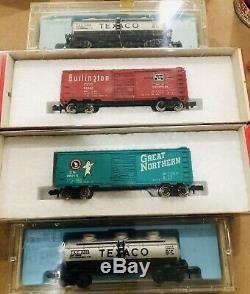 N Echelle, Aurora Timbre-poste Train, Vintage + Extra Piste, Voitures, + Plus