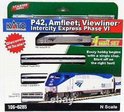 N Échelle Kato 106-6285 Amtrak Viewliner Intercity Express Train Set