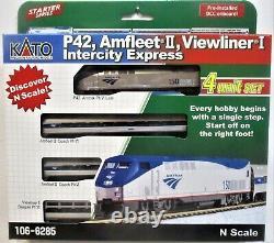 N Echelle Kato 106-6285 Amtrak Viewliner Intercity Express Train Withdcc