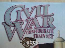 New Bachmann Guerre Civile Piste E-z Défini 150e De Train De Chemin De Fer Confederate 130 Nib