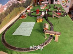 Nmib Vintage Marx Rail & Road Slot Car Railroad Train Course Set