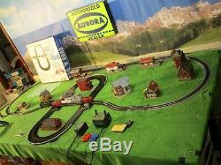 Nmib Vintage Marx Rail & Route Slot Car Railroad Train Voie Set Race