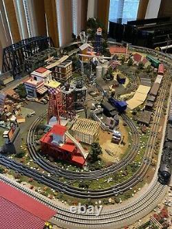 O Échelle Custom Train Set. 3 Pistes. Plus De 6 000 $ Investis. Obo 3 900 $