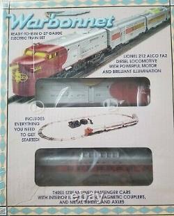 O Jauge Lionel 6-11929 Atsf Warbonnet Train Set 3-rail Diesel Passenger Track