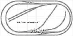 Plan Du Train #002 DCC Bachmann Ez Ez Track Nickel Silver 4' X 8' Train Set