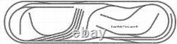 Plan Du Train #046 DCC Bachmann Ez Ez Track Nickel Silver 5' X 16' Train Set