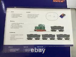 Roco Rc31034 Train Set Hoe, 009 Dr Diesel Loco Wagons, Track, Transformer New