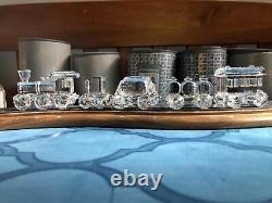 Swarovski Cristal Figurine Train Set Avec Piste. Tous En État De Menthe