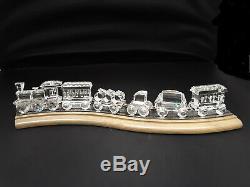 Swarovski Locomotive 7 Pièces Train Y Compris L'original Piste, Glass Box Piste