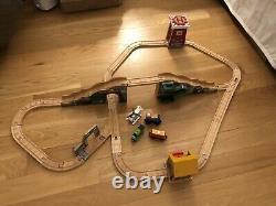 Thomas Wooden Railway Train & Tracks Percy Et The Little Goat Set