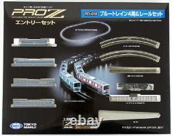 Tokyo Marui Pro Z Pz1-010 Blue Train 4 Voitures Et Pistes Set D'entrée (z Echelle)