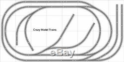 Train # 006 Bachmann Mise En Page Ho Ez Nickel Silver 4' Piste X 8' Train