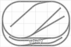 Train # 021 Disposition Bachmann Ho Ez Nickel Silver 4' Piste X 6' Train
