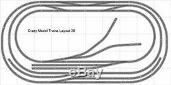 Train La Mise En Page 038 Bachmann Ho Ez Nickel Silver 5' Piste X 10' Train