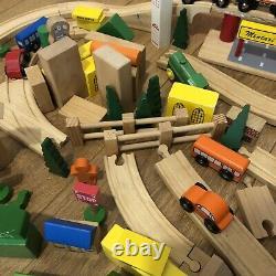 Train Piste En Bois Paquet Travail Énorme Lot Brio Elc Bigjigs Thomas Set Compatible