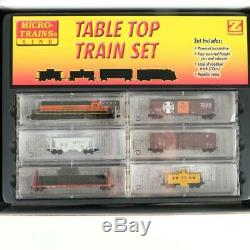 Trains Micro Bsnf Table De Train Avec Sd40-2 Set Cars Locomotive Voie Z Echelle