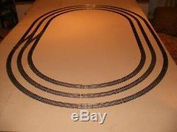 Triple Ovale Good Clean Nickel Argent / Piste Points Train / Modèle Disposition Des Chemins De Fer
