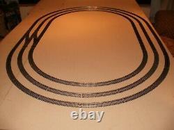 Triple Ovale Good Clean Nickel Argent Piste / Points Train Modèle Disposition Des Chemins De Fer