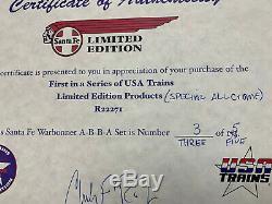 USA Trains R22271 Toutes Chrome Santa Fe A-b-b-un Ensemble, 1 De Seulement 5 En 17 Ans Auparavant