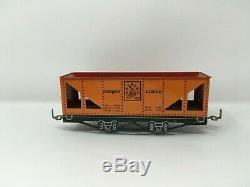 Unique Des Lignes Tinplate Lithographiée Set Mécanique Train Track & Box
