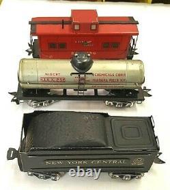 Vintage 1940's Louis Marx Stream Line Modèle 25000 Steam O Scale Train Set, 999