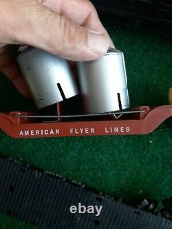 Vintage 1952 Gilbert American Flyer 3/16 Échelle Train Set Énorme Lot 2 Moteurs