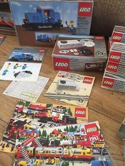 Vintage 1980 Train Lego 7740 Et Mis Shunter 7860 Avec Piste Supplémentaire Avec Des Boîtes