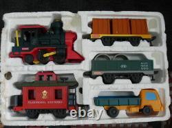 Vintage 1988 Playskool Express Train Set & Tracks Tested Works Incomplete #3838