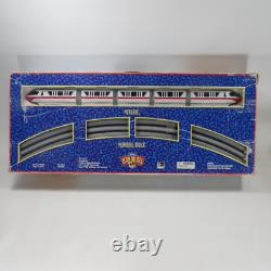 Vintage Disney World Red Stripe Monorail Train Toy Set 5' X 4' Oval Track W Box