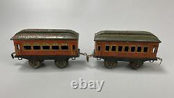 Vintage Ives D'avant-guerre N ° 6 Lionel Clockwork Windup Train Réglé Avec La Voie De Non-travail