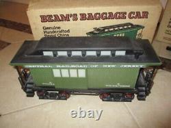 Vintage Jim Beam Decanter Train Set Locomotive + 5 Trains Pas De Voies
