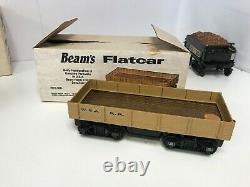 Vintage Jim Beam The General Locomotive Decanter Train Set 8pc Avec 8 Pistes