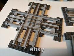 Vintage Lego 12v Pistes Vintage Lego Train Traversant Courbes Droites Bundle