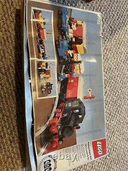 Vintage Lego 7722 Train De Fret Vapeur Avec Voie + Instructions Pas Sûr Si Complet