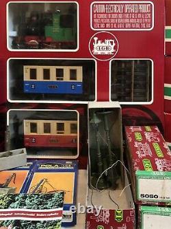 Vintage Lehman The Big Train 20301 Ensemble Avec Des Voitures Supplémentaires Piste De Plus De 30 Pièces
