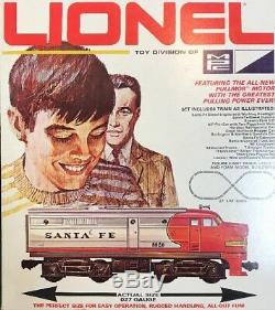 Vintage Lionel Santa Fe Double Diesel Train Complete W & Track Boîte Originale