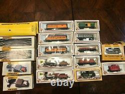 Vintage Model Train Set- Union Pacific Loco, Baltimore&ohio + 10 Voitures De Plus