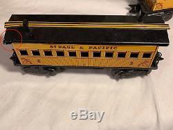 Wells Fargo Électrique Antique Train Set 1960, Modele 54742 Avec Piste