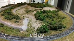 Z Echelle Custom Built Disposition De Chemin De Fer Modèle De Table Rame Micro-trains Sur Piste